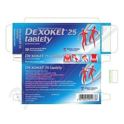 Dexoket 25 tablety por.tbl.flm.10x25mg
