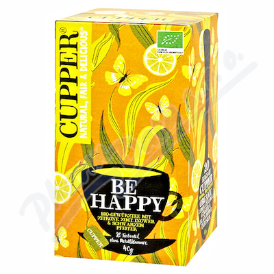 Cupper BIO čaj Be Happy 20 n.s.