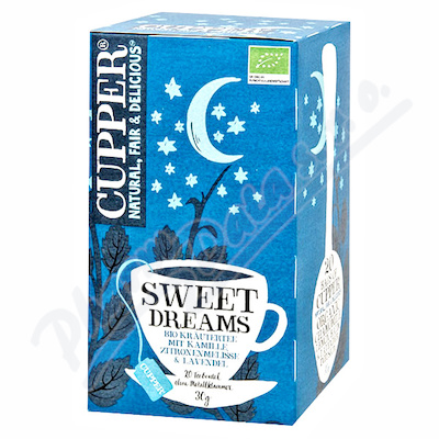 Cupper BIO čaj Sweet Dreams 20 n.s.